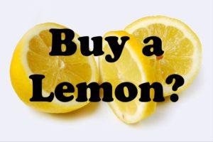Buy a Lemon?