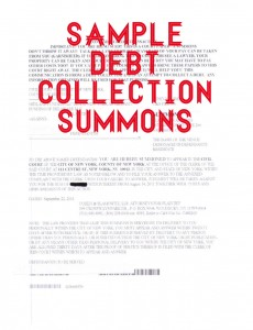 Sample Debt Collection Summons