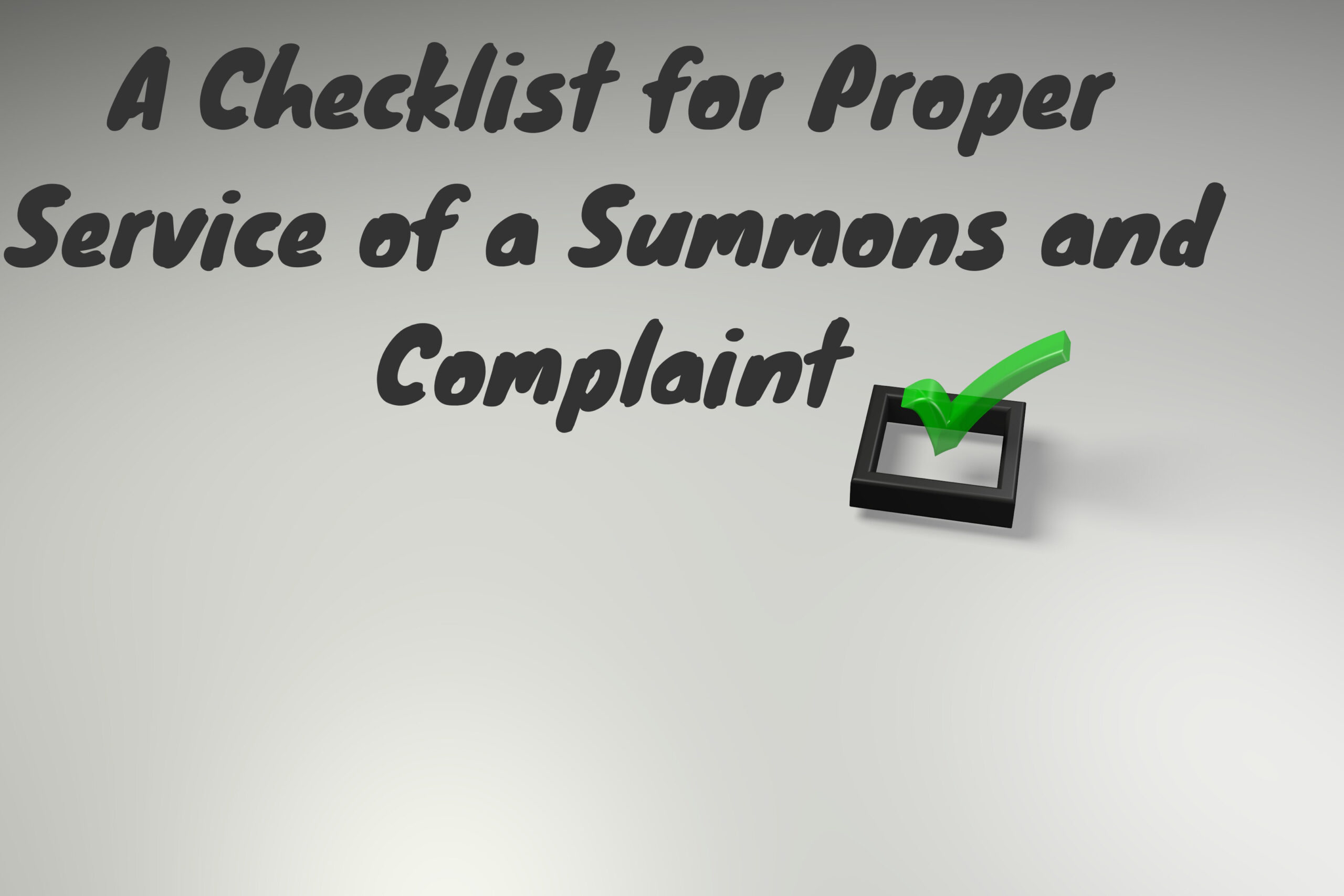 A checklist for proper service of a ny debt collection summons and a checklist for proper service of a ny summons and complaint altavistaventures Gallery