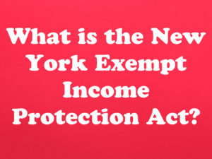 What is the NY Exempt Income Protection Act?