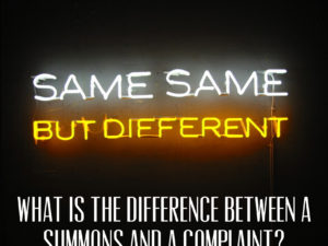 What is the Difference Between a Summons and a Complaint?