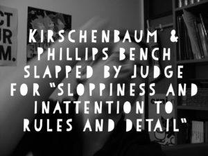 Kirschenbaum & Phillips, PC - Sloppy and Noncompliant