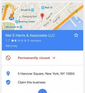Mel Harris Permanently Closed