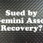 Sued By Gemini Asset Recovery In New York or New Jersey?
