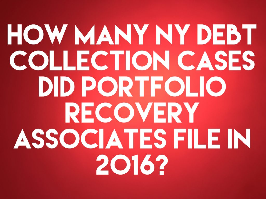 debt buyer portfolio recovery associates llc filed only 62 new york