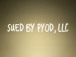 Sued By PYOD LLC in New York or New Jersey?
