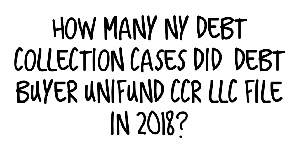 How Many Cases Did Unifund File in 2018