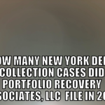 Debt Buyer Portfolio Recovery Associates, LLC Filed 5,696 New York Debt Collection Cases In 2019