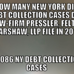 Debt Collection Law-Firm Pressler, Felt & Warshaw, LLP Filed 13,086 NY Debt Collection Cases In 2019