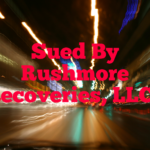 Sued By Rushmore Recoveries, LLC in New York or New Jersey?